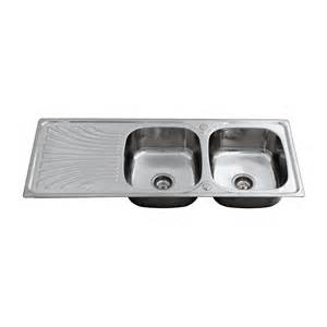 enki stainless steel twin double bowl reversible inset