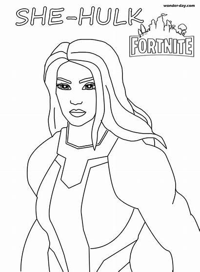 Fortnite Hulk She Coloring Midas Ausmalbilder Brawl