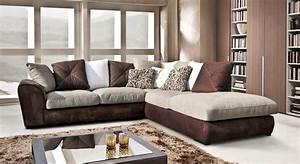 canape d39angle cuir et bois rustique With tapis de course avec canapé rustique bois tissus