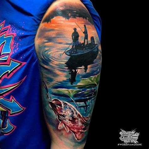 Fishing Boat Tattoo Designs by Fishing Sleeve Tattoo Venice Tattoo Art Designs