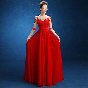 nochiffon embroidery half sleeve wedding party party dress With formal wedding dresses for women