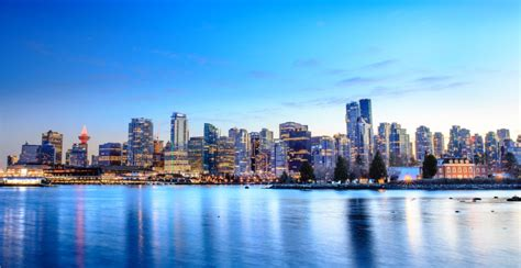 vancouver skyline downtown stanley waterfront park quality ranks living america 5th north shutterstock