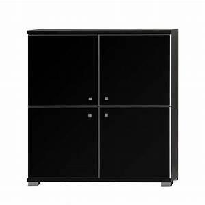 Küchenschrank 90 Cm Breit : highboard pirlo schwarz hochglanz schwarz matt 90cm breit ~ Markanthonyermac.com Haus und Dekorationen