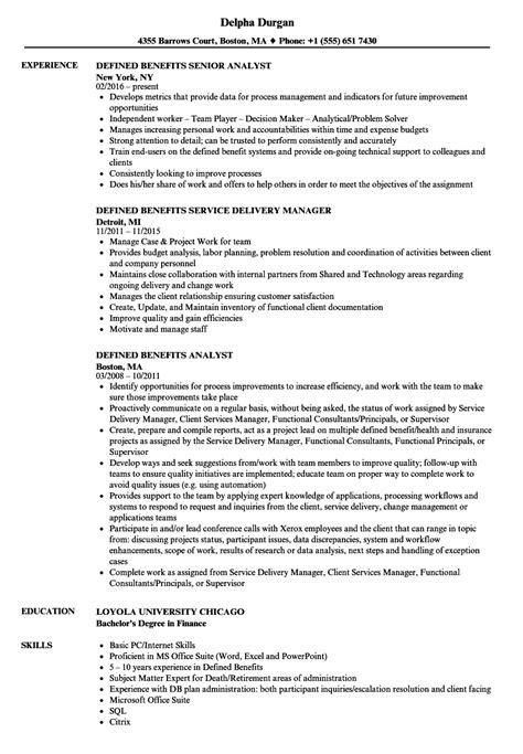 Resume Defined by Defined Benefits Resume Sles Velvet