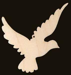Dove Bird Shape Christmas Ornament Wood Cutout 746 3 5   eBay