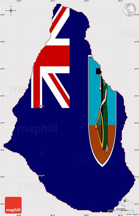 flag simple map  montserrat