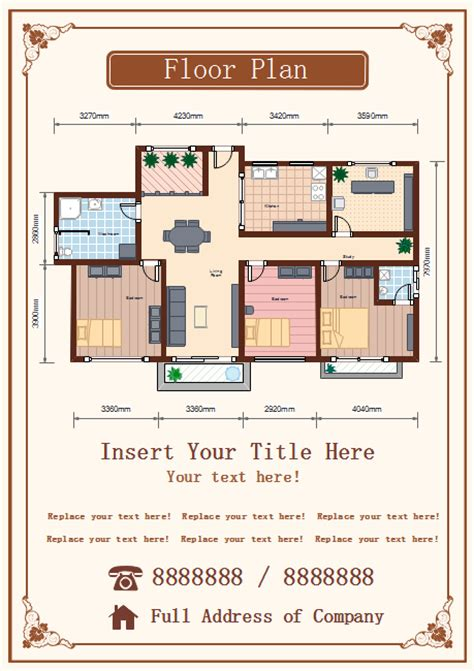 floor plan flyer  floor plan flyer templates
