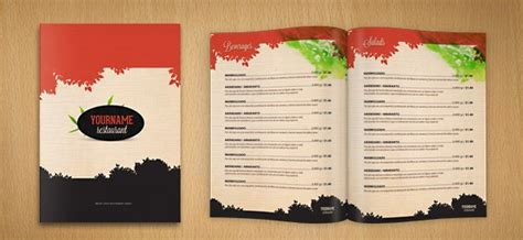 restaurant menu card psd mockup design   designhooks