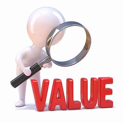 Value Word 3d Looking Glass Worth Magnifying