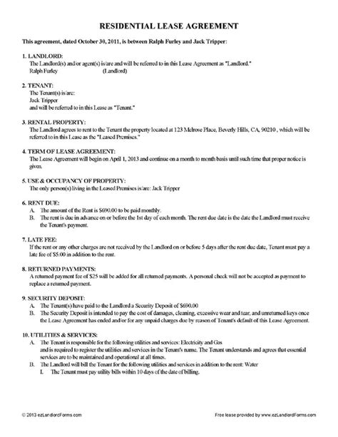 17478 tenant lease form 16 best images about rental agreements on