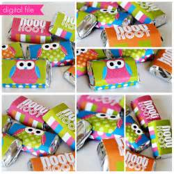 Mini Owl Candy Bar Wrappers Printable