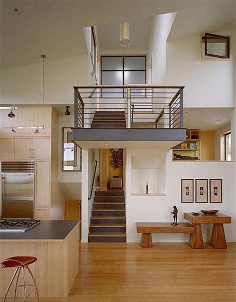 modern split level home design architecture  interior