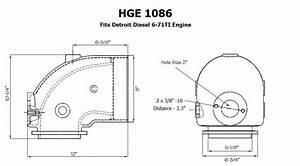 Elbow Exhaust For Detroit Diesel Marine Engine 8 Inch