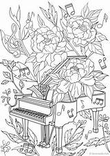 Coloring Piano Pages Adult Adults Printable Colouring Sheets Favoreads Designs Flower Detailed Sheet Club Books Colorier Dessin Ete Coloriage Popular sketch template