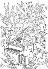 Coloring Piano Adult Adults Printable Colouring Sheets Favoreads Mandala Popular Detailed Abstract Dessin Flower Colorier Copy été Coloriage Adulte Musique sketch template