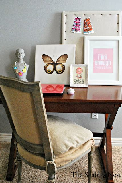 Master Bedroom Office Space by The Shabby Nest Master Bedroom Reveal