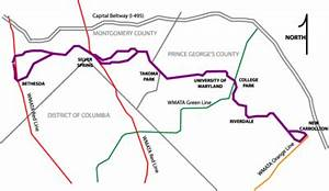 Map of Purple Line (Maryland) - The Full Wiki