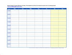 Weekly Schedule Template Excel 5 Weekly Schedule Template Budget Template Letter