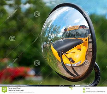 Objects Mirror Appear Larger Bus Side Reflection