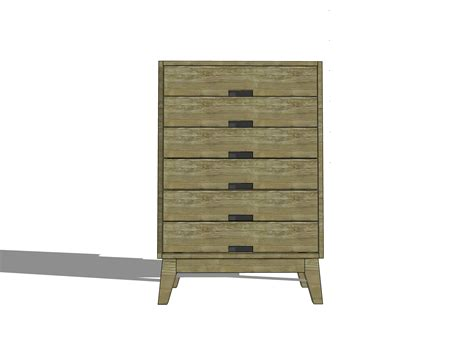 diy furniture plans  build  steppe tallboy dresser