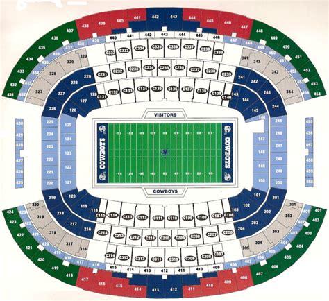 dallas cowboys stadium seating chart arlington