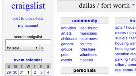 Craigslist Car For Sale In Dallas And Fort Worth By Owner