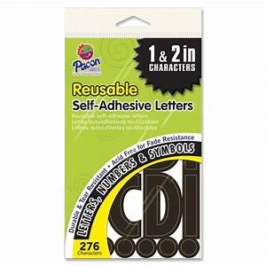 pacon self adhesive letters 276 black quickshipcom With black adhesive letters