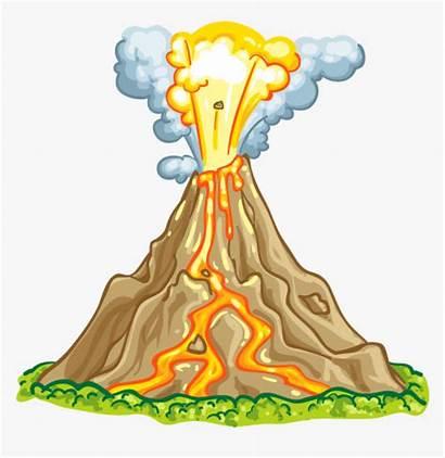 Volcano Clipart Volcanic Parts Eruption Animated Transparent