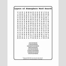 Layers Of The Atmosphere Word Search 5th  7th Grade Worksheet  Lesson Planet