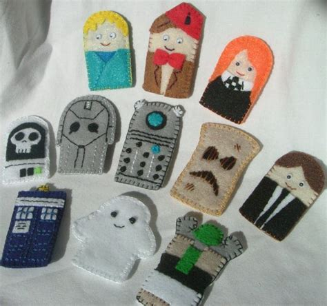 Doctor Who Weihnachtsschmuck by Dr Who Finger Puppets Filzen