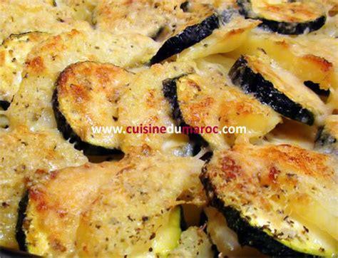 recette de la cuisine marocaine gratin de courgettes aux pommes de terre