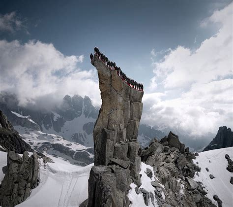 Hundreds Of Mountaineers Climb The Alps For Epic
