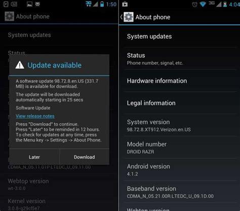 Update Motorola Droid Razr And Droid Razr Maxx To Android
