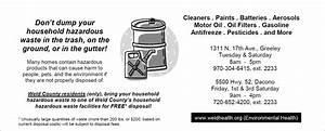 Household Hazardous Waste Disposal | Fort Lupton, CO ...