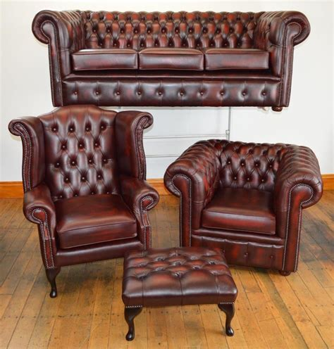 Second Settees Ebay by Chesterfield Leather Suite Chair Sofa B New 3 Colours