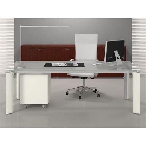 bureau alinea verre table bureau verre