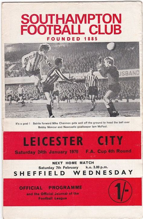 Vintage Football soccer Programme Southampton v Leicester ...
