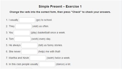 Simple Present Tense Exercises  Word Counter Blog