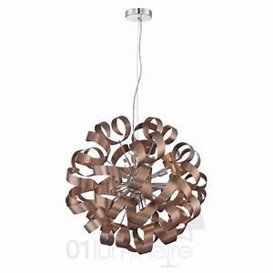 Suspension Boule Cuivre : lustre flox cuivre 60cm suspension luminaire market set ~ Teatrodelosmanantiales.com Idées de Décoration