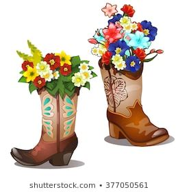 cartoon cowboy boots images stock  vectors