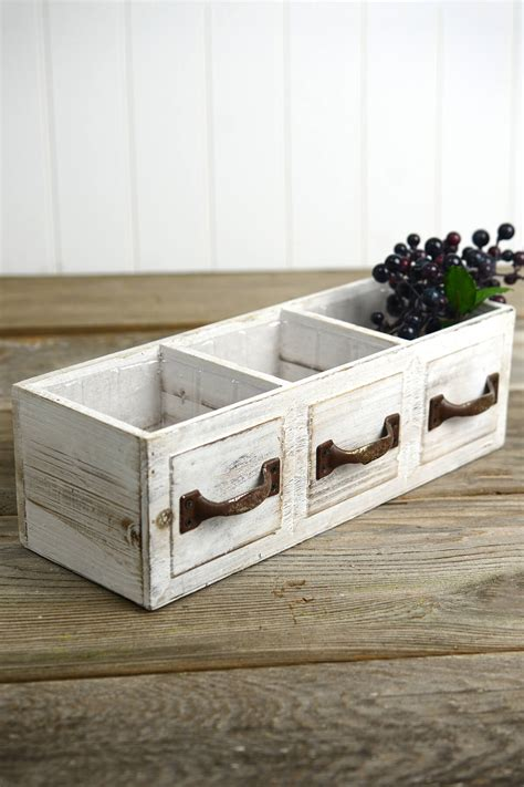 wood drawer planter box drawer  compartments