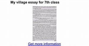 College Vs High School Essay Compare And Contrast Essay My Village Fairfield Haiti Earthquake Essay Proposal Essays also Science Development Essay Essay My Village Nursing Reflective Essays Essay My Village Life  Essay On Library In English