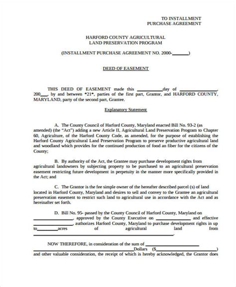 Installment Sale Agreement Template by Sle Purchase Agreement Forms