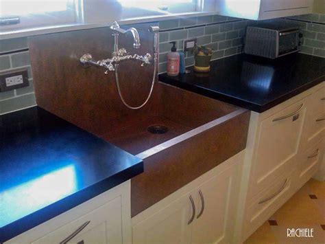 kitchen sinks with backsplash copper sinks with integral back splashes by rachiele