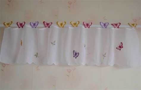 small butterfly sheer curtain white kitchen curtains window valance  sizes  butterfly