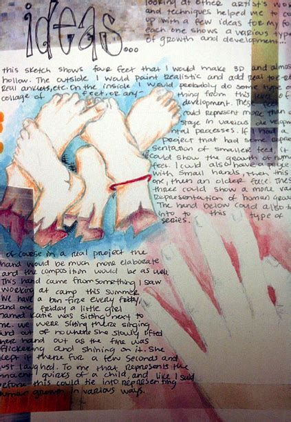 art lesson visual verbal journal collages  images