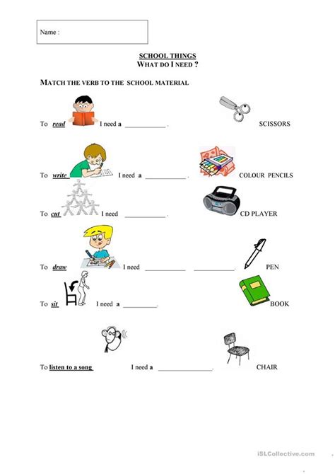 school things worksheets images search