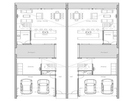 duplex plans  small lots narrow lot duplex house plans