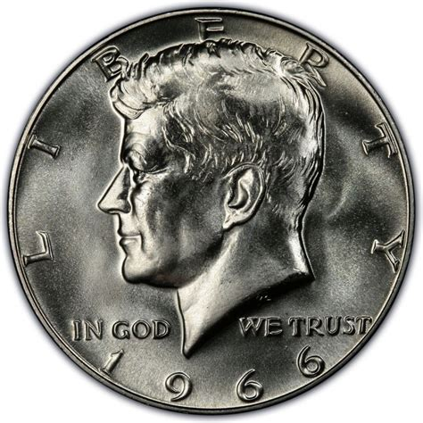 value of kennedy half dollars 1966 kennedy half dollar values and prices past sales coinvalues com