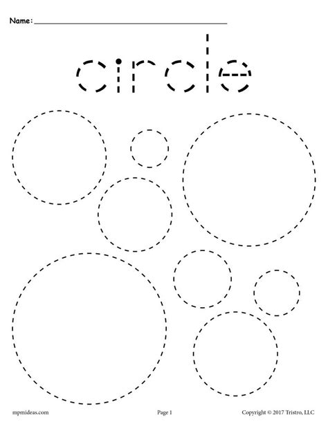 12 Shapes Tracing Worksheets  Circles, Squares, Triangles & More! Supplyme